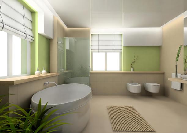 Harmonisch eingrichtetes Bad